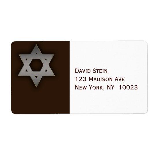 Étiquettes de adresse gris d'accent d'étoile de Da