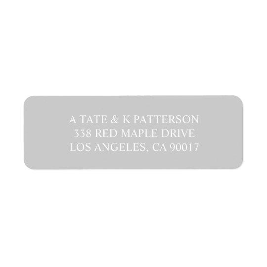 Étiquettes de adresse gris élégants de retour