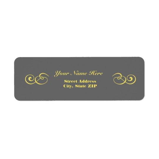 Étiquettes de adresse gris et jaunes