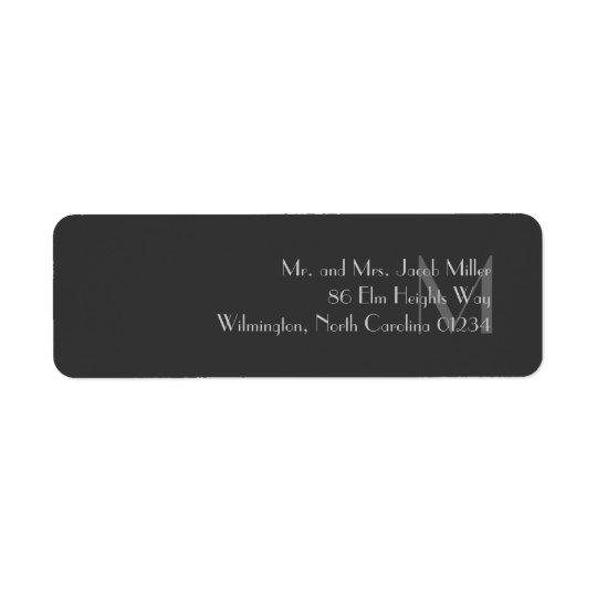Étiquettes de adresse gris modernes de retour de