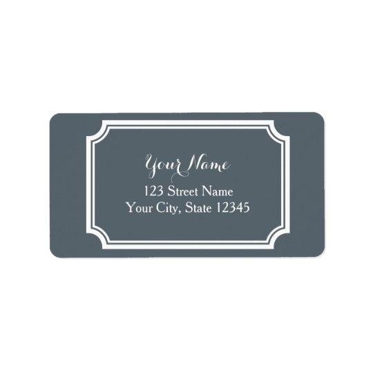 Étiquettes de adresse imprimés par coutume avec la