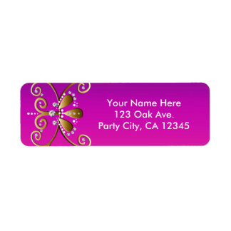 Étiquettes de adresse indiens de fête