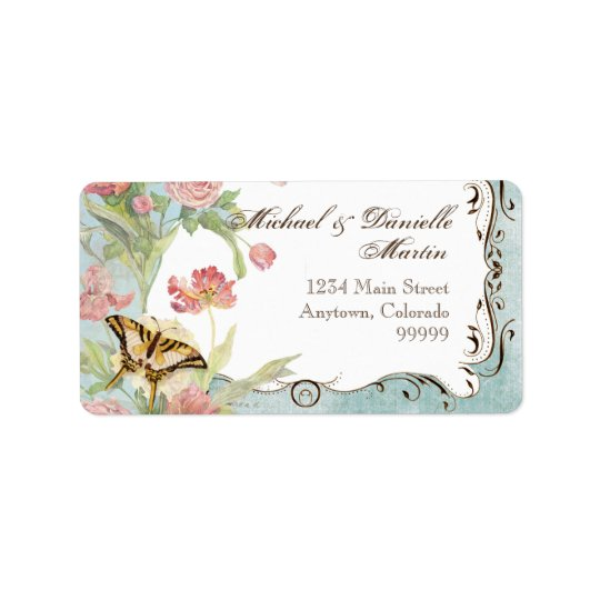 Étiquettes de adresse - Les Fleur Pavoine -