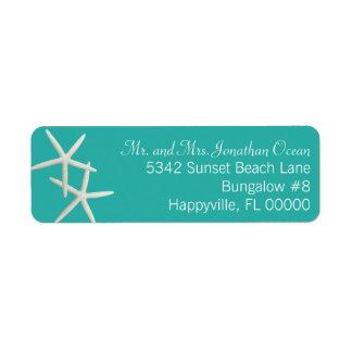 Étiquettes de adresse maigres de lagune de couples