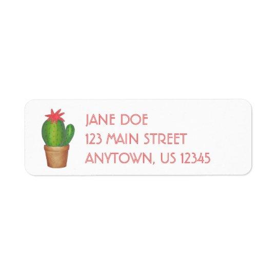 Étiquettes de adresse mis en pot d'usine de fleur