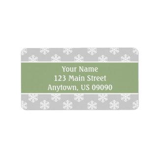 Étiquettes de adresse multi de flocons de neige
