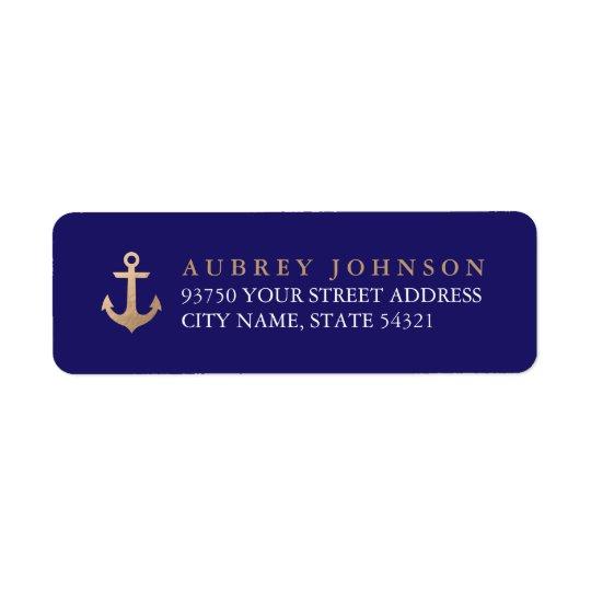 Étiquettes de adresse nautiques