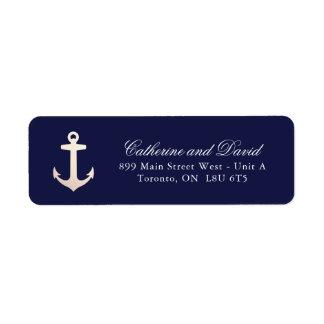 Étiquettes de adresse nautiques de retour d'ancre