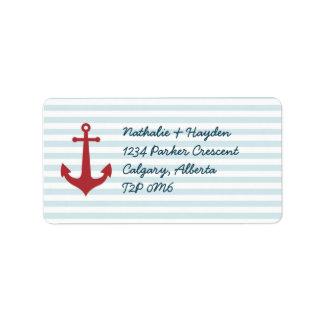 Étiquettes de adresse nautiques étiquette d'adresse