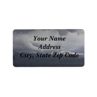 Étiquettes de adresse orageux de ciel