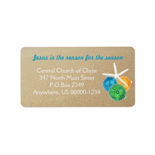 Étiquettes de adresse orientés tropicaux de Noël