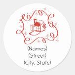 Étiquettes de adresse personnalisés customisés de  autocollants ronds