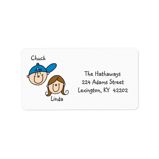 Étiquettes de adresse personnalisés de couples