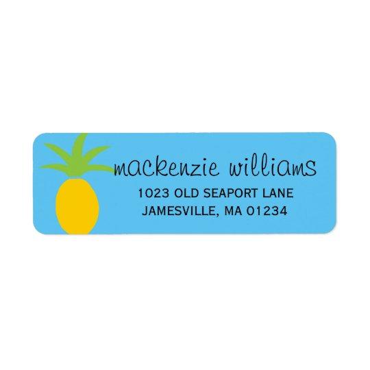 Étiquettes de adresse personnalisés par ananas