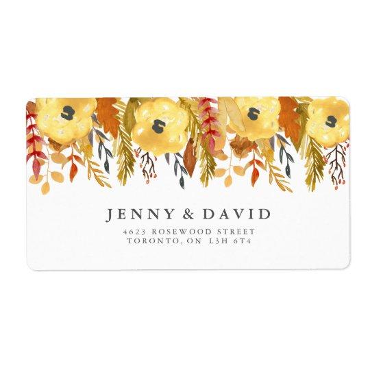Étiquettes de adresse pour aquarelle de mariage de