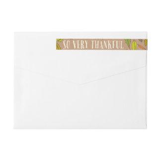 Étiquettes de adresse reconnaissants d'enveloppe