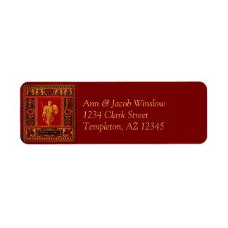 Étiquettes de adresse romains antiques de retour