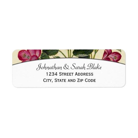 Étiquettes de adresse roses de HibiscusReturn