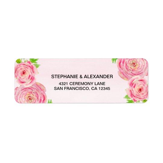 Étiquettes de adresse roses de Ranunculus