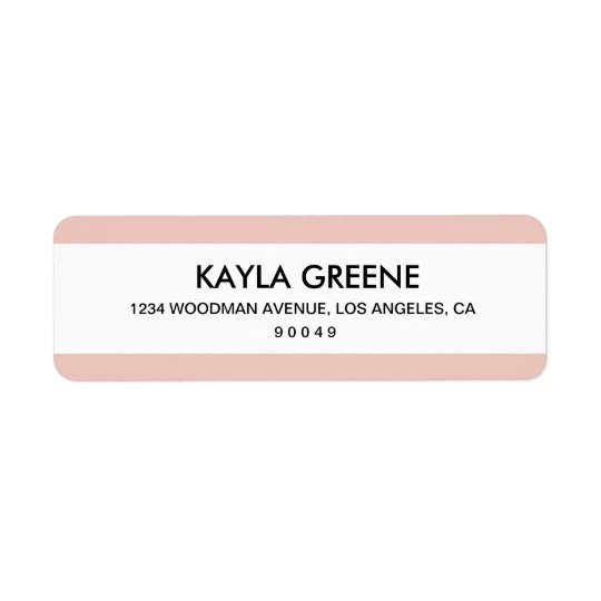 Étiquettes de adresse roses de retour de rayure