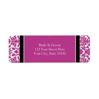 Étiquettes de adresse roses de retour fait sur com étiquette d'adresse retour
