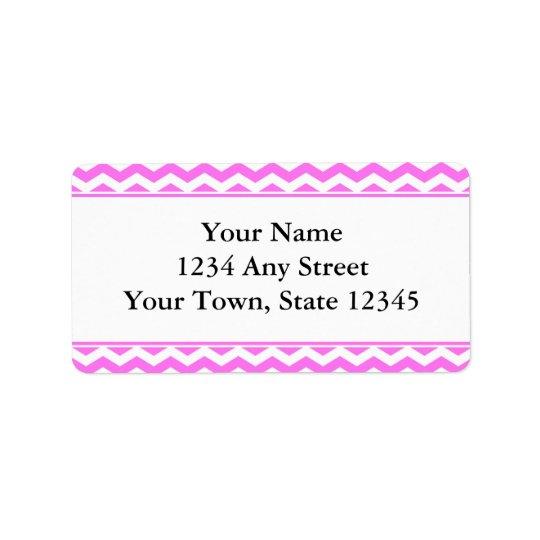 Étiquettes de adresse roses et blancs d'enveloppe