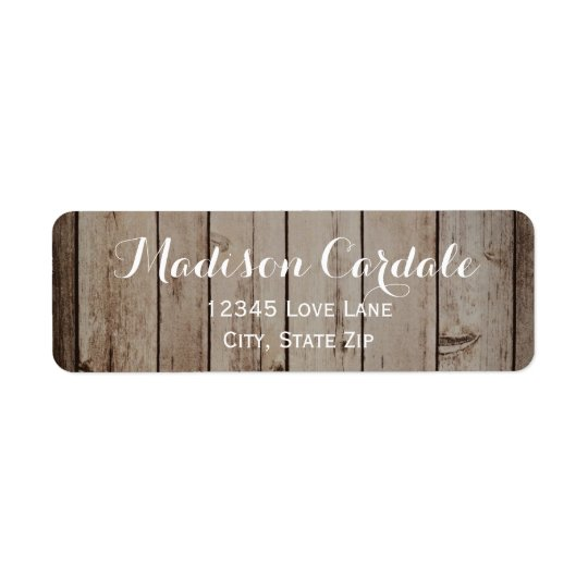 Étiquettes de adresse rustiques en bois antiques