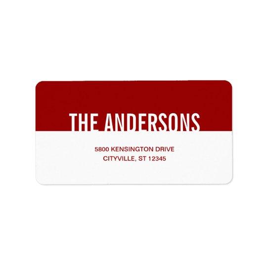 Étiquettes de adresse simplement modernes