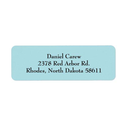 Étiquettes de adresse simples de retour de plaine