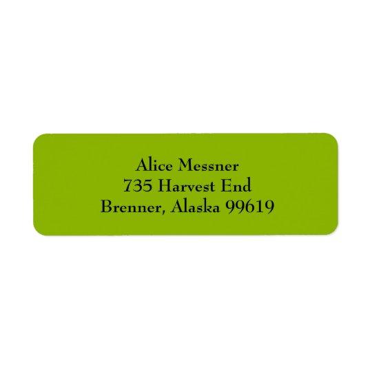 Étiquettes de adresse simples vert pomme de retour