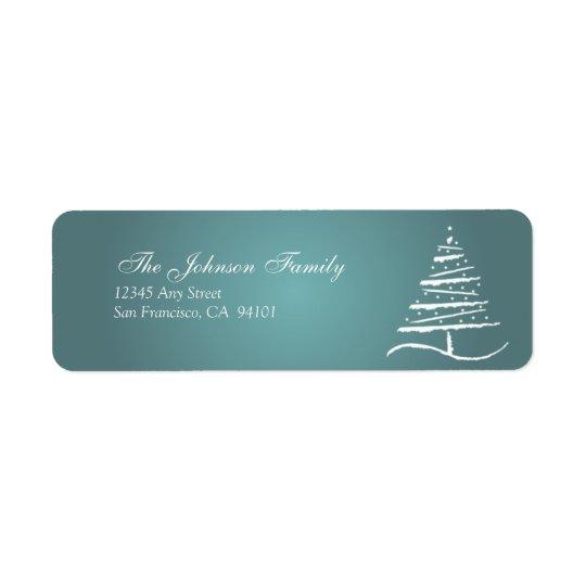 Étiquettes de adresse stylisés de vacances d'arbre