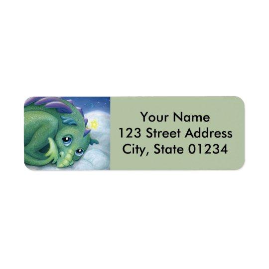 Étiquettes de adresse timides de retour de dragon