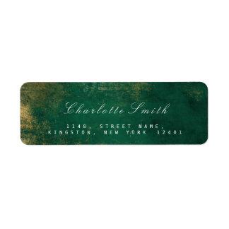 Étiquettes de adresse tropicaux de retour d'or