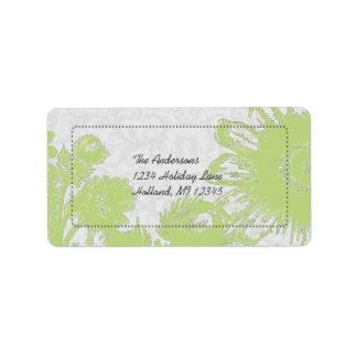 Étiquettes de adresse vert pomme de retour de