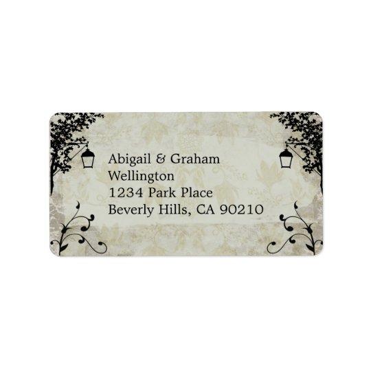 Étiquettes de adresse vintages de mariage de