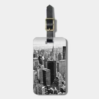 Étiquettes de bagage de New York City