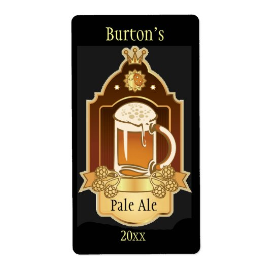Étiquettes de bière brassés par maison