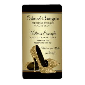 Étiquettes de bouteille de vin de chaussure de