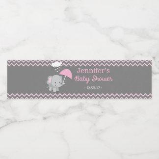 Étiquettes de bouteille d'eau de baby shower de