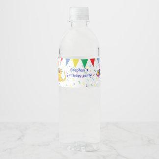 Étiquettes de bouteille d'eau de fête