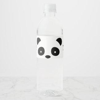 Étiquettes de bouteille d'eau de panda, étiquette