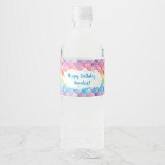 Étiquettes de bouteille d'eau de sirène