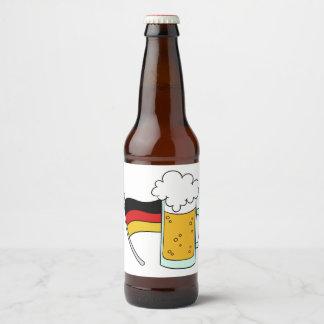Étiquettes de bouteille d'Oktoberfest