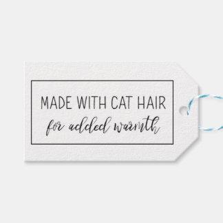 Étiquettes de cadeau d'amoureux de les chats pour