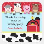 Étiquettes de cadeau d'anniversaire d'animaux de b autocollant