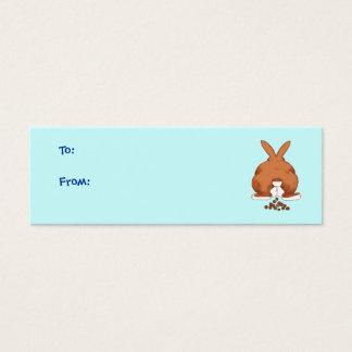 Étiquettes de cadeau de bout de lapin mini carte de visite