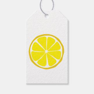 Étiquettes de cadeau de citron d'agrume d'été