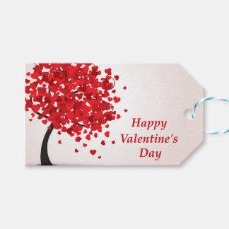Étiquettes de cadeau de heureuse Sainte-Valentin
