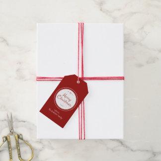 Étiquettes de cadeau de Joyeux Noël