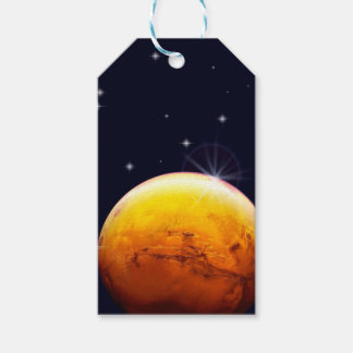 Étiquettes de cadeau de Mars